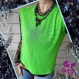 Y2K Sequin Star Graphic Summer Sweater Vest